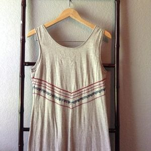 Johnny Was Dresses - JWLA Gray Embroidered Tank Top Tunic Dress